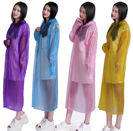 Wholesale Travel Emergency Poncho - Disposable Raincoat Adult Emergency Waterproof Hood Poncho Travel Camping Must Rain Coat Unisex Wholesale LLFA