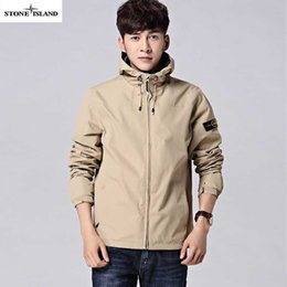 Wholesale Long Parka Mens Jacket - 2017 Mens summer autumn Coat Winter Stone Jacket Cotton Brand Clothing Jackets Parkas Mans ISLAND cotton Coats