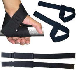 Wholesale body building bar - Wholesale- Weight Lifting Hand Wrist Bar Support Strap Brace Support Gym Straps Weight Lifting wrap Body Building Grip Glove 1 Pair