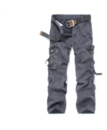 Wholesale Heavy Pants - Wholesale- New Heavy Multi-Pocket Men Loose Overall Cargo Pants Full-Length Zippers Decorated High-End Tooling Solid Men Casual Trousers