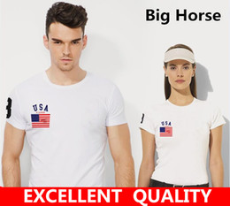 Wholesale Flag Tees - Brand New Summer Designer Big Horse Embroidery T Shirt Men'S Short Sleeve Tshirt Creative Flag Men'S T-Shirt S-5XL plus size tops & tees