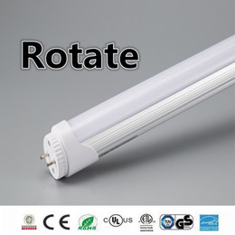 Wholesale Rotating Lamp White Light - rotate end 4ft 1.2m 1200mm T8 t10 t12 Led Tube Lights Super Bright 22W Led Fluorescent bulbs Tube lamp AC85-277V CE ROHS UL FCC.