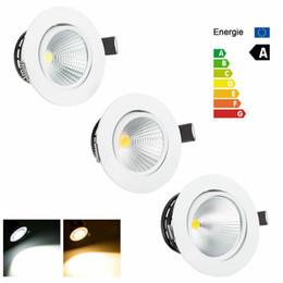 iluminación empotrada led retrofit Rebajas El más nuevo Dimmable LED empotrable Downlight 5W 10W 15W COB Chip LED Luz de techo Luz de punto Lámpara Blanco / Cálido AC85-265v CE UL