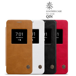 Wholesale Thin White Phone Brands - Original Nillkin Ultra Thin Qin PU Leather Flip phone Case cover For LG G6 with retail package