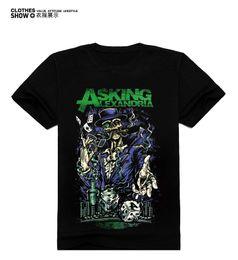Wholesale Uk T Shirt Printing - Wholesale- Men's T-Shirt 3D Men Tops Tee Skull Printed Men's short-sleeved Fashion 3D UK Metalcore band Asking Alexandria Casual T-shirt!