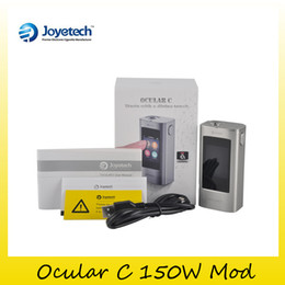 Wholesale Software Wholesalers - original Joyetech Ocular C 150W Touch Screen TC Box Mod VT Software For Authentic Upgrading Smart System With Phone APP 100% Genuine 2220065