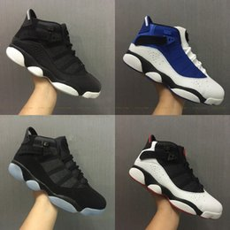 Wholesale Leather Rings For Men - 2017 New Air Retro 6 Rings Basketball Shoes Alternate Oreo Black Grey Chameleon for Men Sneakers Shoes 6s Gold Carmine Trainers