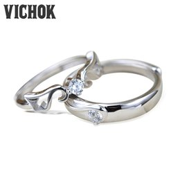 Wholesale Crown Rings For Men - 925 Sterling Silver Rings Crown Fashion Platinum Plated For Women Men Prong Setting Resiable Jewelry Lover engagement Gifts Rings VICHOK