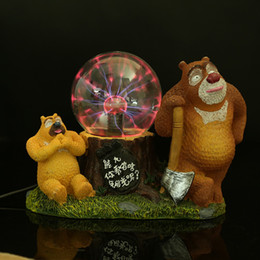 Hot Bear Sweet House Decro Photoelectric Magic Ball Crystal Ball Electric Ion Induction Electrostatic Ball Decoration Resin Ornaments