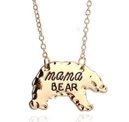 Wholesale Vintage Mom Necklace - New Fashion Vintage New Mom Love Mama Bear Necklace Mother Grizzly Bear women for mother's day AA117