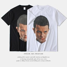 Wholesale Eleven S - 2017, spring, summer,men's strange stories American characters, eleven printing men's short sleeved T-shirt