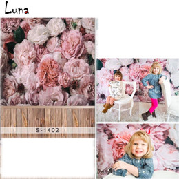 Estudio de la boda de fondo wallpaper online-5x7ft flor de papel tapiz de vinilo fotografía de fondo para la boda de madera telón de fondo para niños recién nacido foto estudio accesorios