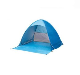 Wholesale Automatic Door Open - 2017 new beach tent pop up open 1-2person quick automatic open 90% UV-protective sunshelter for camping fishing