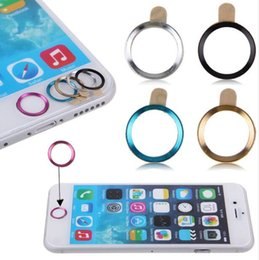 Wholesale Fingerprint Identification - New Aluminum Home Key Protector Ring Sticker Touch ID Button Metal Round For iPhone 7 6s Plus 5 5s 4 4s Fingerprint Identification Function