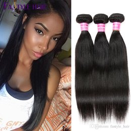 Wholesale Quality Remy - Fastyle Malaysian Straight Hair Extensions Top Quality Unprocessed Brazilian Peruvian Indian Mink Virgin Human Hair Bundles Dyeable Cheap