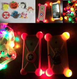 Wholesale led 3d iphone case - For iphone x case universal 3D cartoon Halloween case led night light up bumper animal luminous cover for iphone 8 7 plus samsung s8 note 8