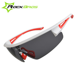 Wholesale Rockbros Polarized Sunglasses - Wholesale- ROCKBROS Polarized UV400 Cycling Sunglasses Bicycle Bike Glasses Gafas Occhiali Ciclismo Cycling Bike Equipment Eyewear 3 Colors