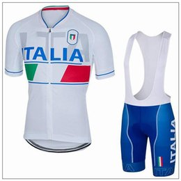 Wholesale Italia Cycle Jersey - 2017 ITALIA BAHRAIN MERIDA cycling jersey 3D gel pad bibs shorts Ropa Ciclismo pro cycling clothing mens summer bicycle Maillot Suit