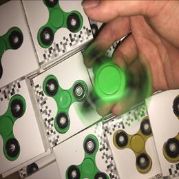 2017 zappeln Spinner Hand Spinner Tri Fingerspitzen Spirale Finger EDC HandSpinner Acryl Kunststoff Zappeln Spielzeug Gyro Spielzeug Mit Kleinkasten von Fabrikanten