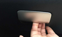 Wholesale Glove Material - Stainless Steel Trim For Mercedes Benz GLA A class CLA180 200 220 260 Co-pilot Glove Box Switch Panel Decorative Cover