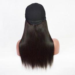 Wholesale Indian Hair Cap Wig - Silky Straight U Part Wigs Black Cap Unprocessed Brazilian U Part Human Hair Wigs 150 Density Silky Straight Upart Wig For Black Women