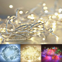 Wholesale Christmas Tree Lights Battery - 3XAA Battery 2m 20 LED String Mini Fairy Lights Battery Power Operated Pure Cold Warm white Blue Red Yellow Green Pink Purply multi-color