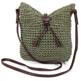 Wholesale Zipper Jute Bag - Wholesale- Woven Shoulder Bags Straw Summer Women Weave Crossbody Burlap Jute Pouches Beach Travel Handbag