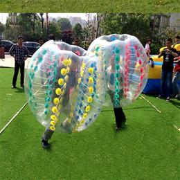 Sfere del respingente del corpo gonfiabile online-Buttafuori umani gonfiabili del pallone da calcio della bolla di zorbing del corpo di calcio del paraurti 1.5m 0.8mm DHL OTH061