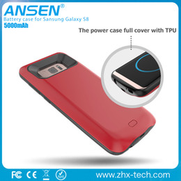Wholesale Power Listen - 2017 New arrival slim battery case mic,listening the music external power case for samsung S8