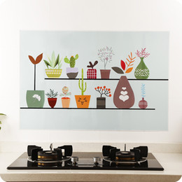 Wholesale Bench Pink - Kitchen Self-adhensive Anti Oil Wallpaper High temperature Resistant Household Cooking Bench Decoration Sticker DIY Waterproof Wall Sticker