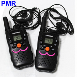 Wholesale Uhf Portable Transceiver - Portable VT-8 Mini Walkie Talkie 2 Way Radios PMR 446MHz 8 Channels Transceiver Transmitter PTT CB Radio Communicator with Earphone