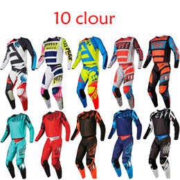 Wholesale Motocross Motorcycle Pants - Free shipping 2017 HOT Dirt Bike 180 NIRV Motocross fox Off-Road Suit MTB DH MX Moto Gear Set Jersey+Pants Motorcycle Dirt Bike Riding Gear
