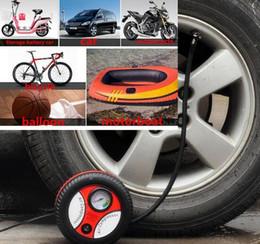 Wholesale Motor For Compressor - Car Mini Inflatable Pump Electric Tyre Pressure Monitor Compressor PortablePSI12V Air Pumping Tire Pumps for Bike Motor Ball