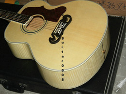 Wholesale Deluxe Acoustic Guitar - New + Factory + Chibson J200 flame maple acoustic guitar J200 electric acoustic Deluxe guitar spruce top acoustic