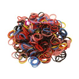 Wholesale Baby Hair Elastics - Free Shipping 900-1000pcs pack (small package) 2017 New Child Baby TPU Hair Holders Rubber Bands Elastics Women Girl's Tie Gum