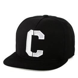 Wholesale Cub Logos - New Arrival White Color Letter C Logo Chicago cubs hat Fitted Sport Fashion Flat Baseball Caps Hip Hop Bones