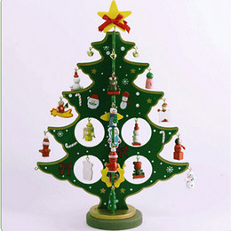 Wholesale Indoor Artificial Trees - Mini Artificial Wooden Christmas Tree Christmas Decorations Decorated Holiday -Related Ornaments Desktop Xmas Tree For Home