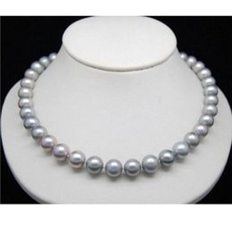 """yellow sea pearl Australia - HUGE AAA 10-11MM SOUTH SEA GENUINE GRAY PEARL NECKLACE 24"""" 14k yellow Gold clasp"""