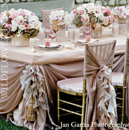 Wholesale Silver Wedding Banquet Chair Covers - 2017 Wedding Party Banquet Decoration Romantic Chair Sashes Fashion Wedding Events Arabic Chair Covers Chiffon Beautiful