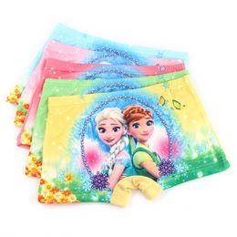 Wholesale Children S Panties - Frozen Anna Elsa Cartoon Children Boxer Underwear Baby Girls Cotton Pants for Kids Pants Briefs Panties Underpants
