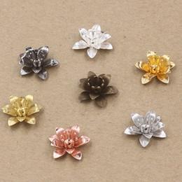 Canada 07234 6 * 15MM bronze antique bronze argent rose or pistolet noir filigrane fleur chapeaux de perles, métal diy fabrication de bijoux Constatations accessoires de composants Offre
