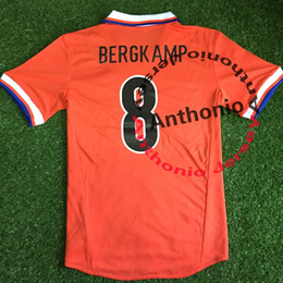 Wholesale Holland Football Shirt - 1997 HOLLAND SEEFORF BERGCAMP KLUIVERT RETRO VINTAGE CLASSIC BRAZIL Thailand Quality soccer jerseys uniforms Football shirt camiseta futbol