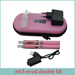 E Sigara MT3 EVOD Çift Başlangıç Kiti 2.4 ML Buharlaştırıcı 650 mah 900 mah 1100 mah EVOD Pil Ayrılabilir Bobin Ecigs DHL ücretsiz nereden el yapımı bonglar tedarikçiler