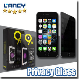 Wholesale Lcd Screen Guard Iphone - for iPhone7 se Samsung S6 Tempered glass Screen protector Privacy LCD Anti-Spy Screen Protector Film Guard Cover Shield