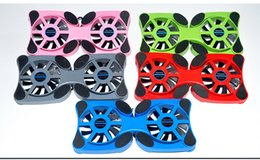 Wholesale Cooler Fan For Notebook - Wholesale- Hot New Foldable USB Cooling Fan Mini Octopus Cooler Pad Quiet Stand Double Fans For Notebook Laptop PC
