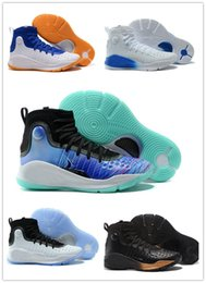 Wholesale Art Curries - Free Shipping Stephen Curry 4 IV Basketball Shoes for men White Black steph Curry 4 Sports training Sneakers Size 40-46 with box
