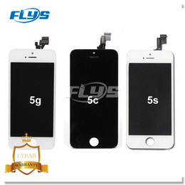 Wholesale 5s Digitizer - Best AAA quality for iPhone 5 5C 5S LCD touch screen digitizer Full set Assembly White and black color with fast DHL