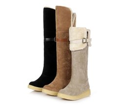 Wholesale Tall Heel Boots For Women - Casual Over Knee High Tall Fashion Classic Flat New Long Plush Fur Winter Snow Boots For Girls Comfort Female Suede Warm Boots A-66