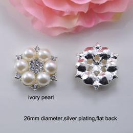 Canada (J0295) Embellissement de strass en métal de 26 mm à plat, plaqué or argent ou or ou rose clair, ivoire ou perle blanche pure Offre