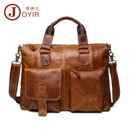Wholesale Executive Bags - 2017 Luxury Laptop Bag Mens Briefcase Genuine Leather Handbag Executive Business Shoulder Bag Travel Bolsos Maletin Hombre B260